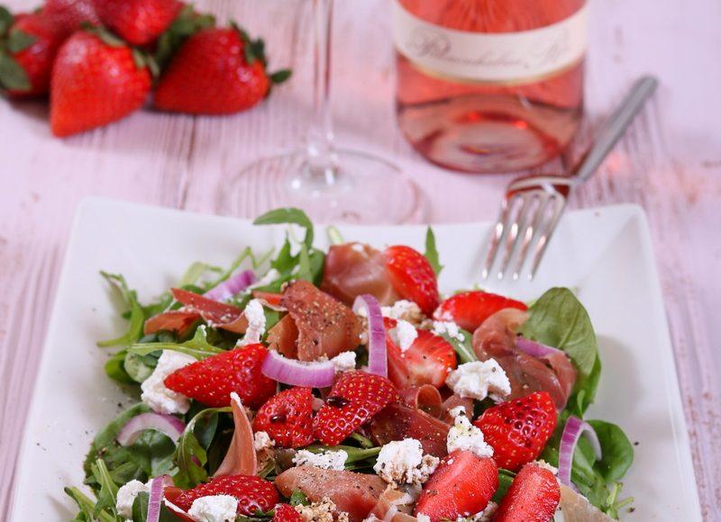 Epres spárgás kecskesajtos saláta