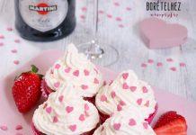 Epres-pezsgős cupcake